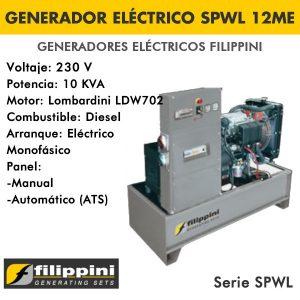 Generador eléctrico Filippini SPWL 12 ME 10 KVA Monofásico
