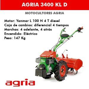 motocultor agria 3400 KL D