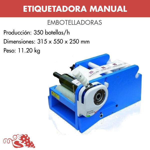 ETIQUETADORA MANUAL PARA ETIQUETAS ADHESIVAS MODELO PALANCA