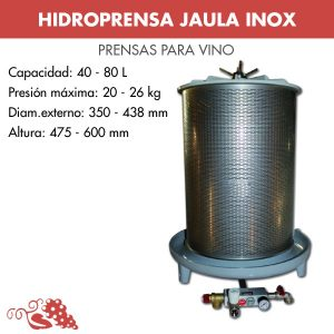 MODELO 40 LITROS JAULA INOX.