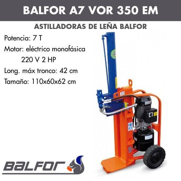 Astilladora de leña Balfor A7 VOR 350 EM