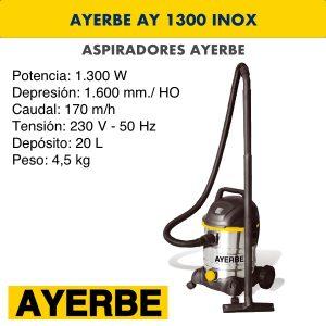 Aspirador industrial ay 1300 inox