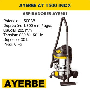Aspirador industrial ay 1500 inox