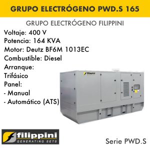 Generador eléctrico filippini PWD.S 165