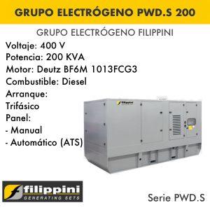 Generador eléctrico filippini PWD.S 200