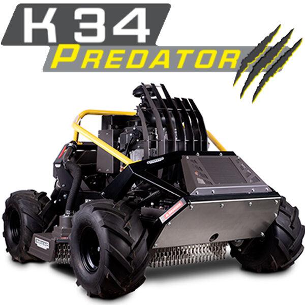 Máquina desmalezadora a control remoto Ecotech K34 PREDATOR