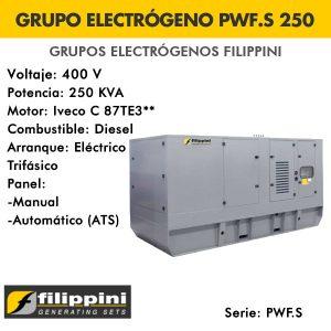 Grupo electrógeno Filippini PWF.S250 250 KVA Trifásico