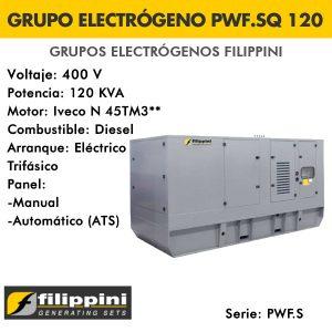 Grupo electrógeno Filippini PWF.SQ120 120 KVA Trifásico