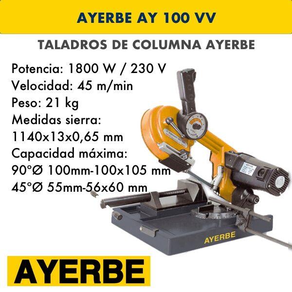 Taladro de columna AYERBE AY 100 VV