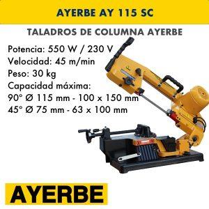 Taladro de columna AYERBE AY 115 SC