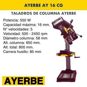 Taladro de columna AYERBE AY 16 CG