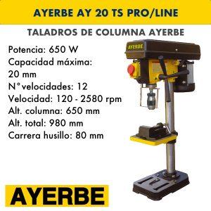 Taladro de columna AYERBE AY 20 TS PRO:LINE