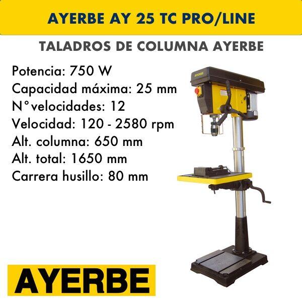 Taladro de columna AYERBE AY 25 TC PRO/LINE