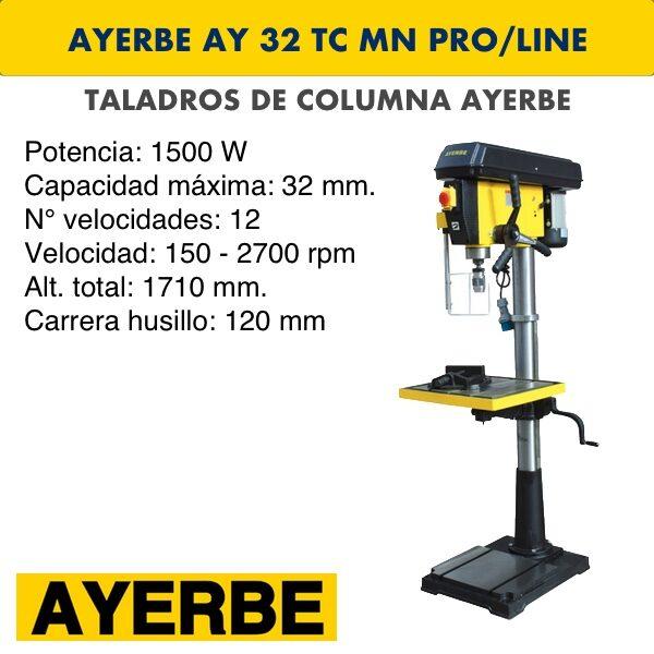 Taladro de columna AYERBE AY 32 TC MN PRO:LINE