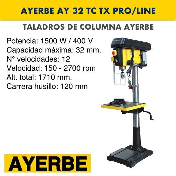 Taladro de columna AYERBE AY 32 TC TX PRO:LINE