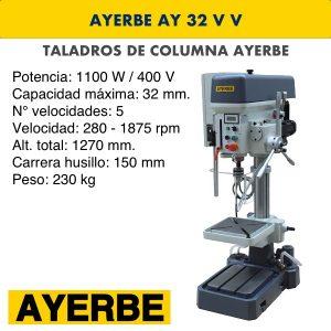 Taladro de columna AYERBE AY 32 V V