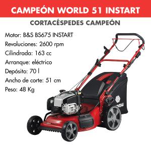 Cortacesped Campeon World 51 INSTART 163 CC