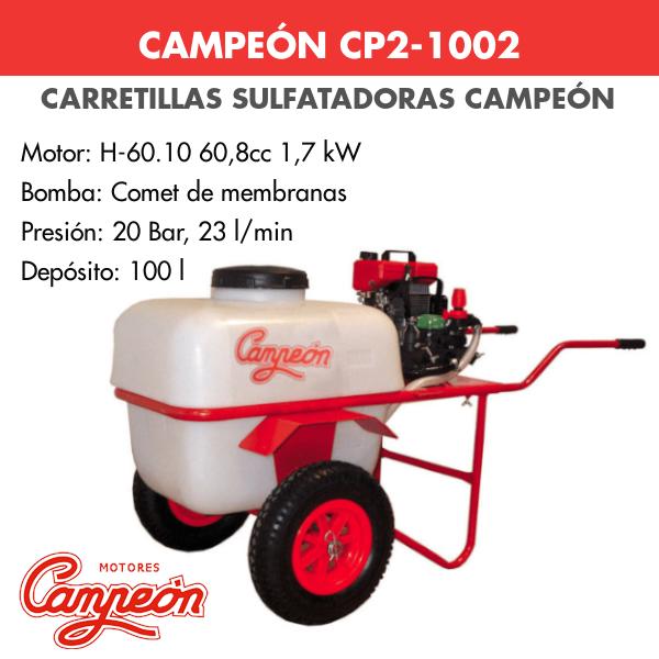 Carretilla sulfatadora Campeon CP2-1002
