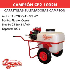 Carretilla sulfatadora Campeón CP2-1002N