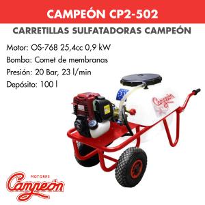 Carretilla sulfatadora Campeón CP2-502