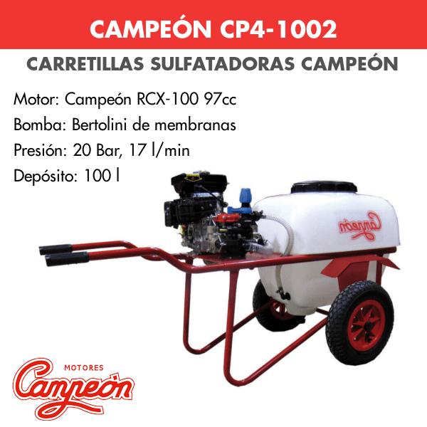 Carretilla sulfatadora Campeon CP4-1002