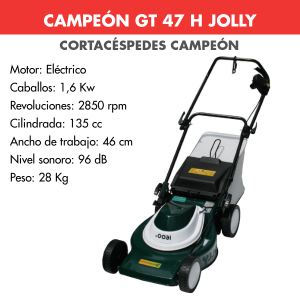 Cortacesped Campeon GT 47 E JOLLY 1600 W