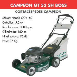 Cortacesped Campeon GT 53 SH BOSS 160 CC