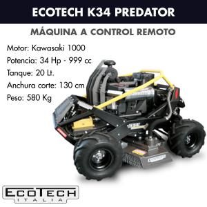 Máquina a control remoto Ecotech K34 PREDATOR