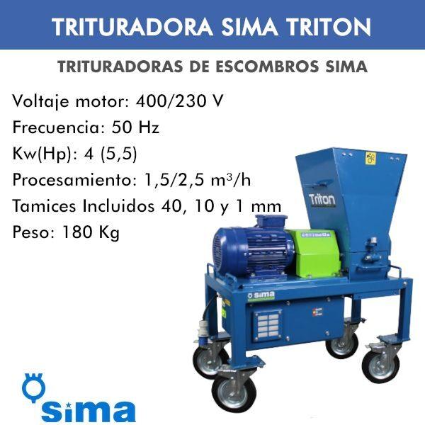 Trituradora de escombros para reciclado Tritón
