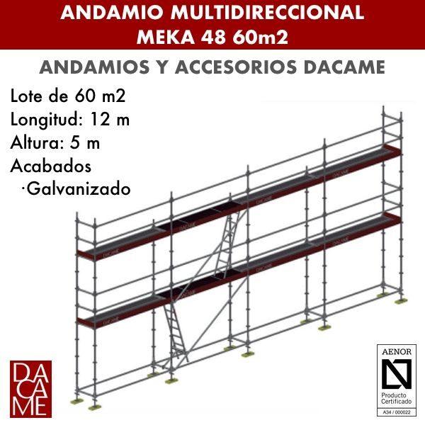 Andamio Multidireccional Dacame Meka 48 60m2