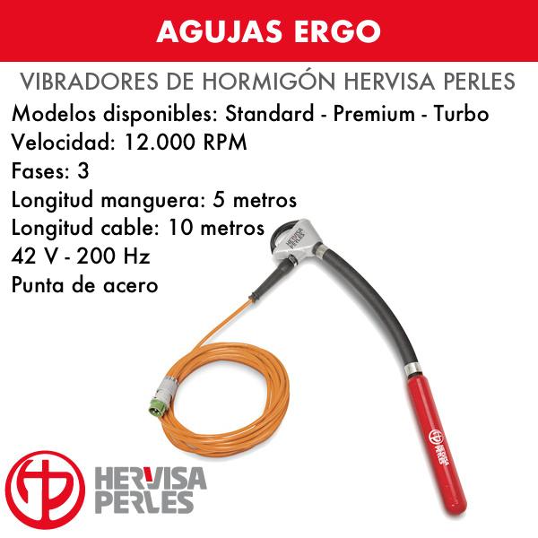 Agujas para Vibradores de Hormigón Hervisa Perles Ergo Standard-Premium-Turbo