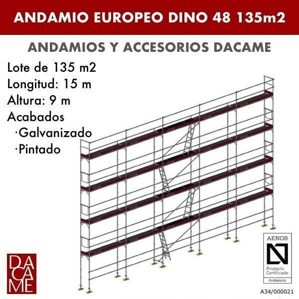 Gerüste Europäischen Dacame Dino 48 135 m2