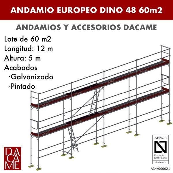 Gerüste Europäischen Dacame Dino 48 60 m2