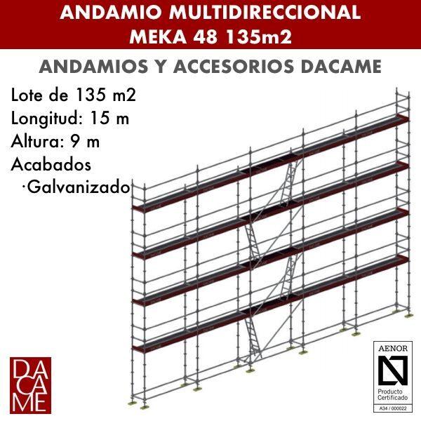 Andamio Multidireccional Dacame Meka 48 135m2