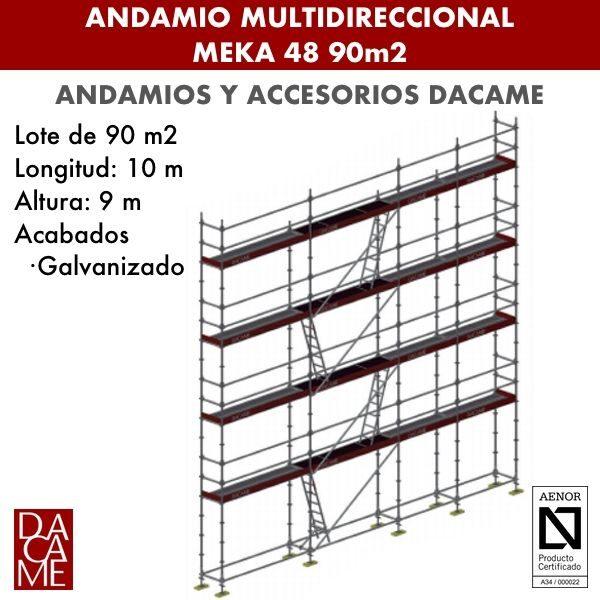 Andamio Multidireccional Dacame Meka 48 90m2