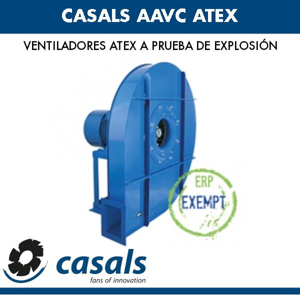 Ventilador a prueba de explosiones Casals AAVC ATEX