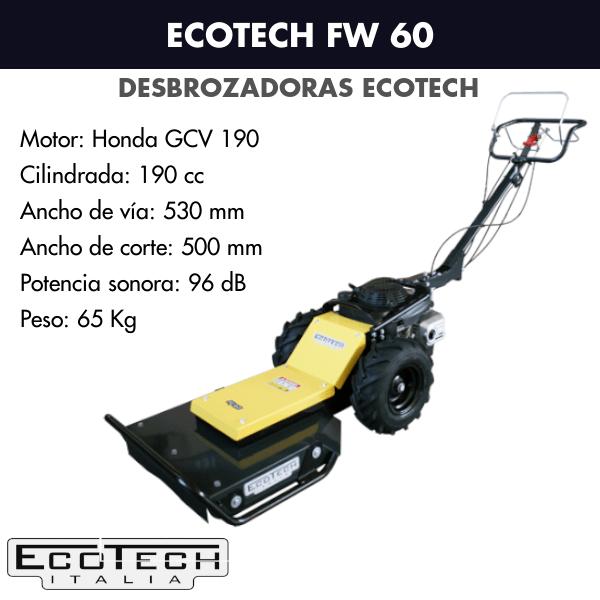 Desbrozadora de ruedas Ecotech FV 60