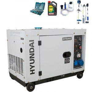 Generador eléctrico HYUNDAI DHY8600SE con regalos