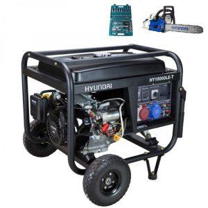 Generador electrico HYUNDAI HY10000LEK-T con regalos