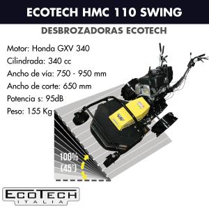 Desbrozadora de ruedas Ecotech HMC 110 Swing