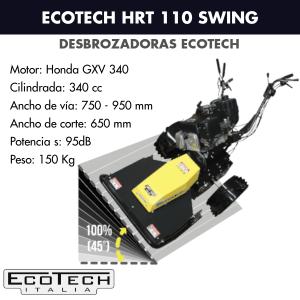 Desbrozadora de ruedas Ecotech HRT 110 Swing