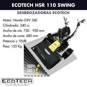Desbrozadora de ruedas Ecotech HSR 110 Swing