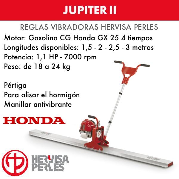 Betonvibrationslineal Hervisa Perles JUPITER II Honda 1,5 - 2 - 2,5 - 3 Meter