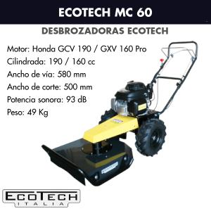 Desbrozadora de ruedas Ecotech MC 60