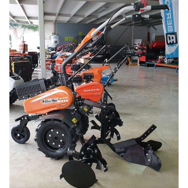 Motoazada Oleo Mac MH 198 RKS + aporcador, ruedas y portaperos 182cc