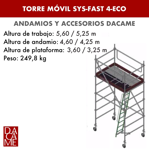 Mobile Türme SYS-FAST 4-ECO Dacame