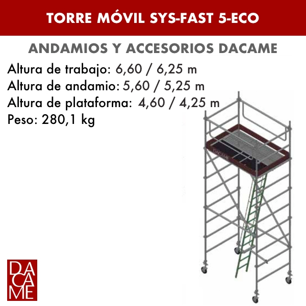Mobile Türme SYS-FAST 5-ECO Dacame
