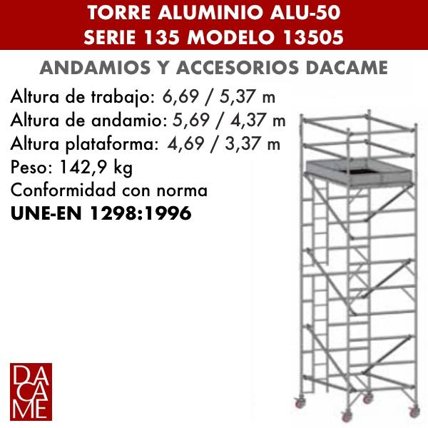 Torres móviles de aluminio Dacame ALU-50 Serie 135 Modelo 13505