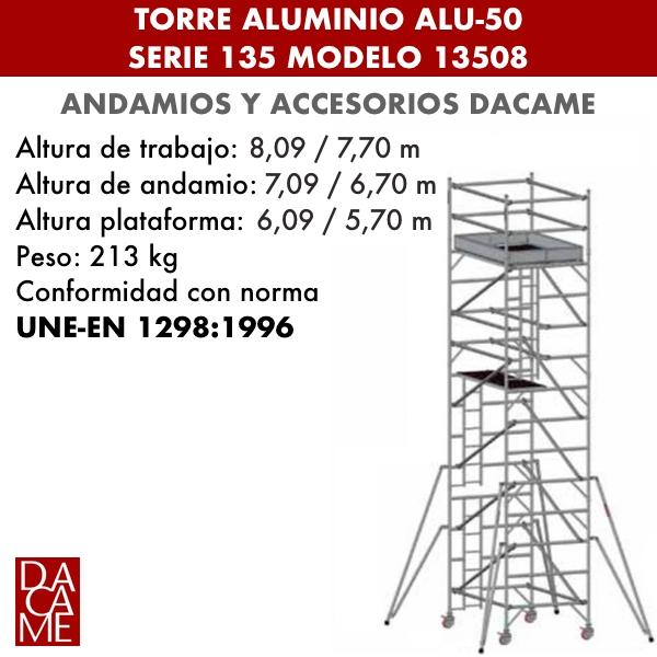 Torres móviles de aluminio Dacame ALU-50 Serie 135 Modelo 13508