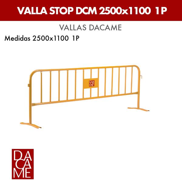 Valla Dacame Stop DCM 2500x1100 1 P (Lote 25 ud.)